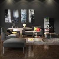 3D model bonaldo vita sofa