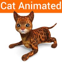 cat rigged animated