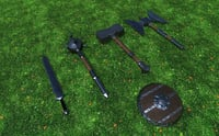 MedievalWeapons_LowPoly_Pack1