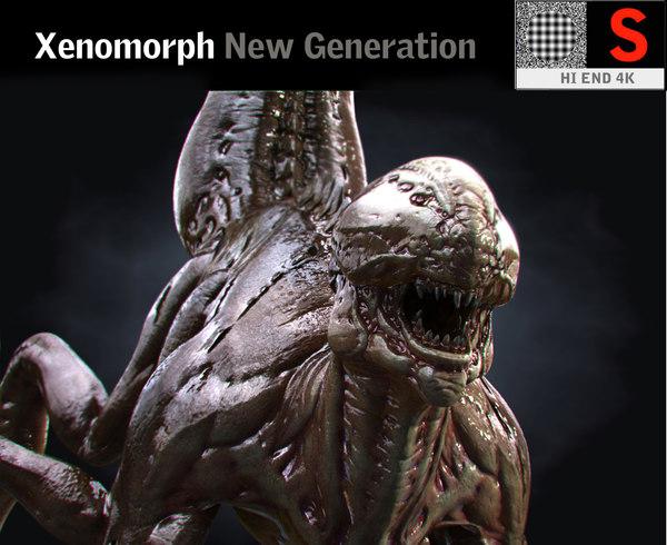 3D xenomorph hd model