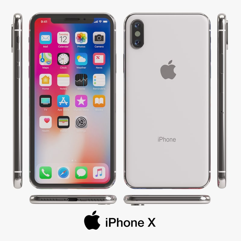 apple iphone x 3D model