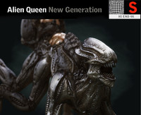 alien queen creature hd 3D model