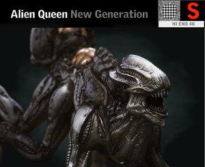 alien queen creature hd 3D model