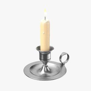3D candlestick candle lights