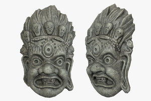 3D mayan tribal mask