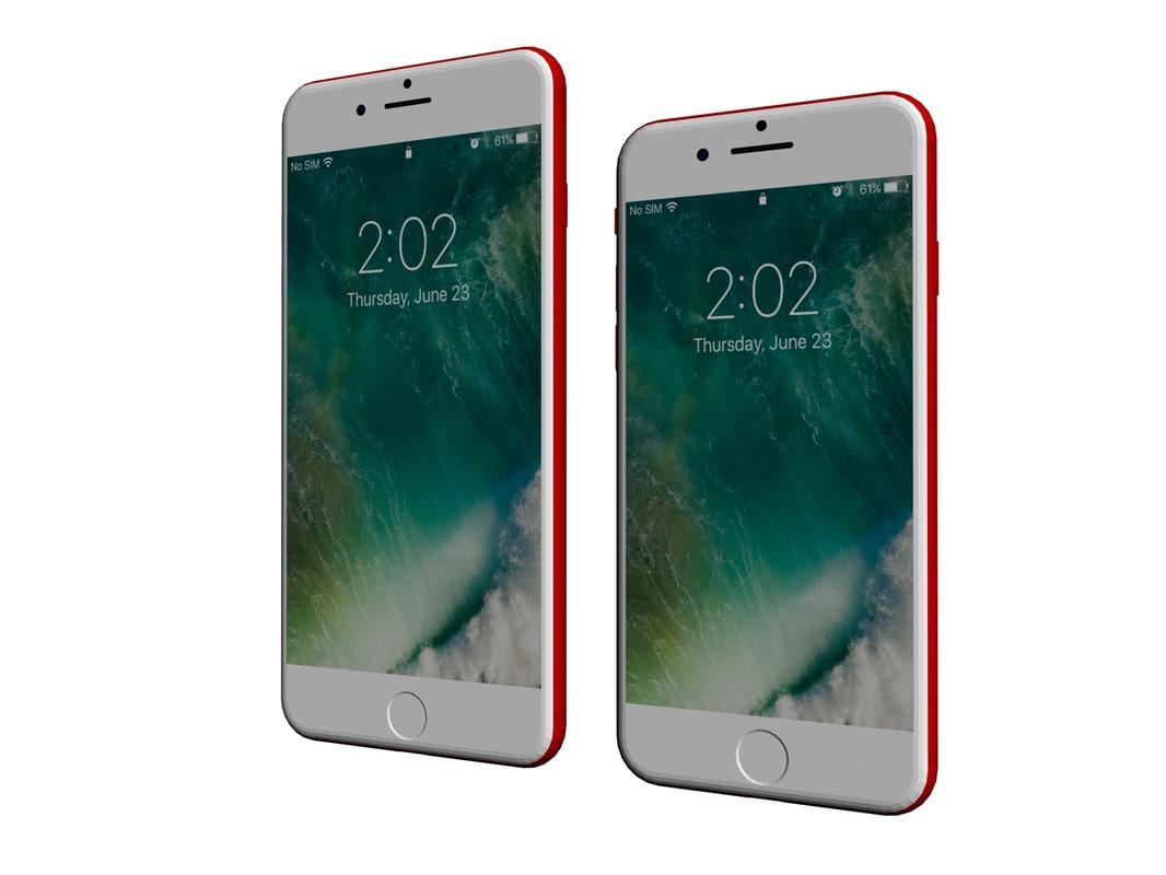 3D model iphone 7 vs