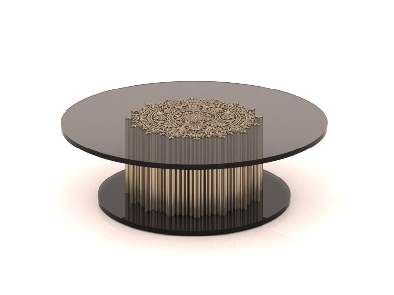 3D metal coffe table