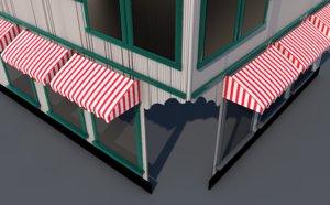 3D model storefront shopping windows