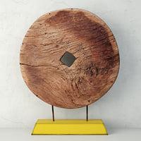 gansu wooden wheel 3D model