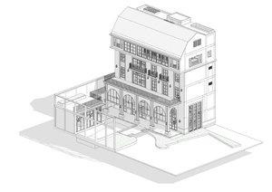 3D revit building model