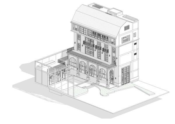 revit building 3D model