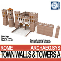 Ancient Roman Town Walls & Towers A