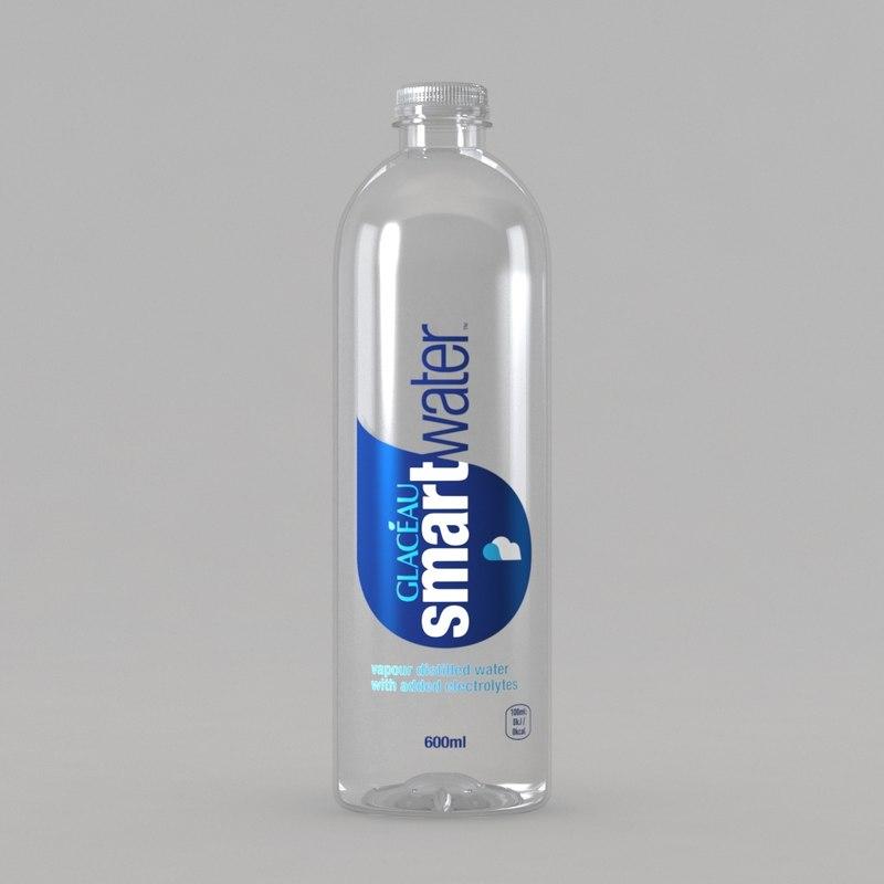 3D glaceau smartwater smart