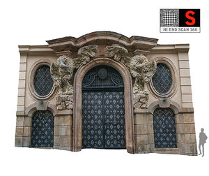 old city gate 16k 3D model
