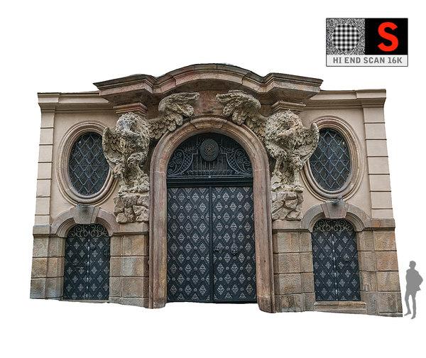 old city gate 16k 3D model