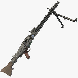 3D model mg42 asset world