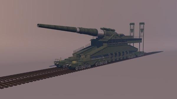 schwerer gustav gun 3D model