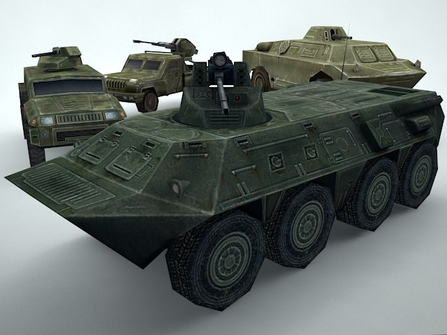 3D military vehicles pack