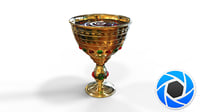 3D model chalice blood