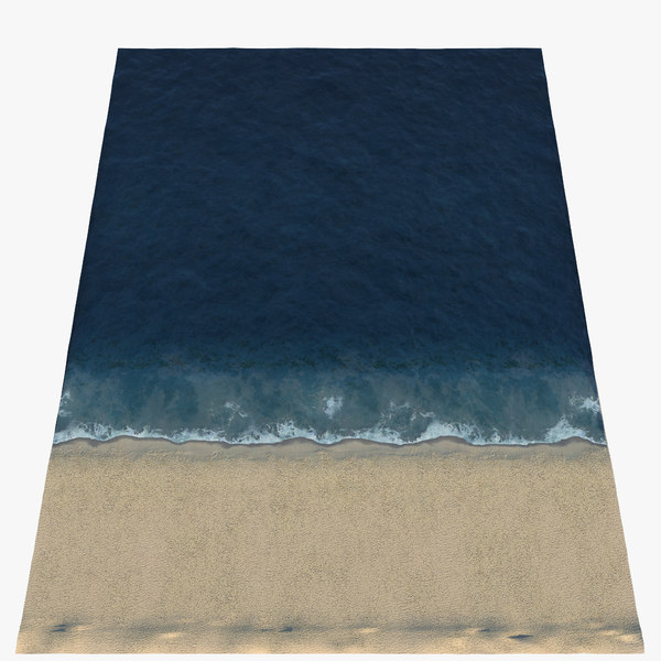 3D ocean shore line loop animation model