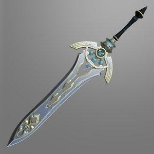 fantasy sword 7 3D model