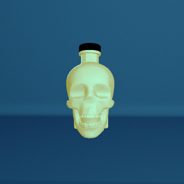 crystal head vodka bottle 3D