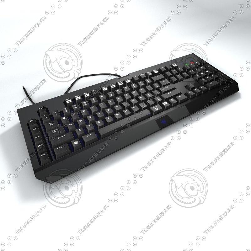 keyboard razer blackwidow 3D model