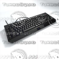 keyboard razer blackwidow 3D model