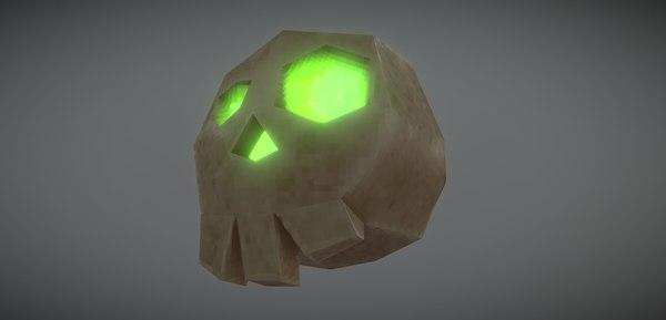 3D model fantasy skull