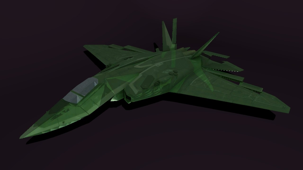 aircraft razor fighter 3D model