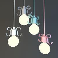 3D bow lamp lights model