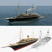 3D nero yacht simulation