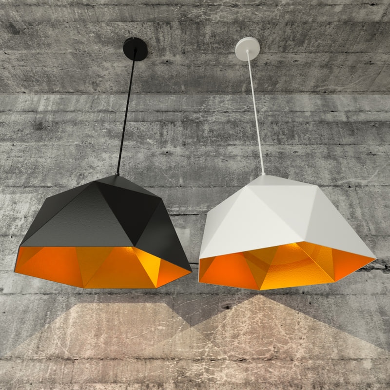 loft diamond lamp lights 3D
