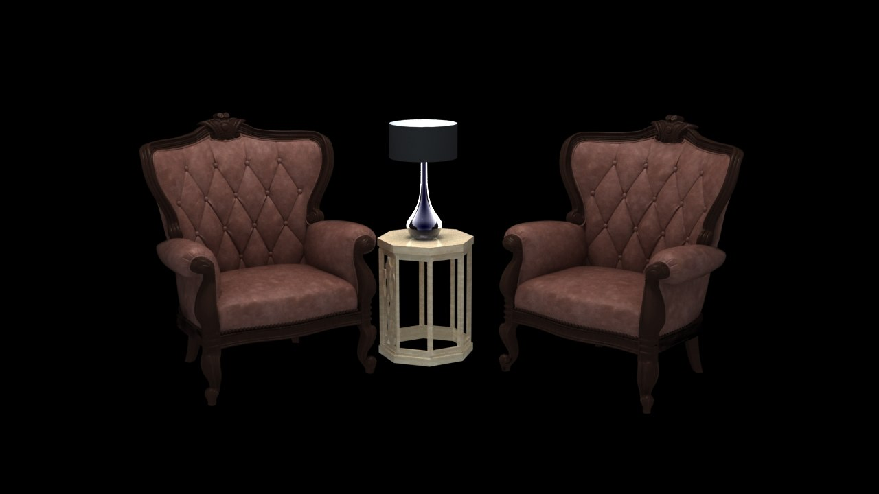 chair sofa furniture 3D