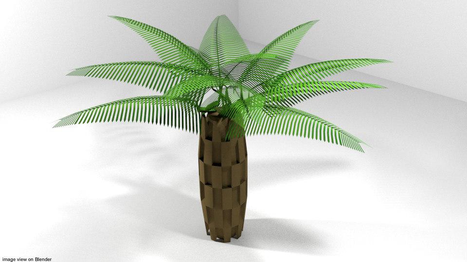 palm tree oil model