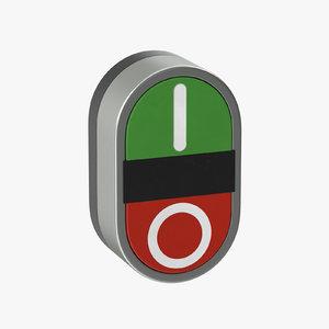 3D model button 01 10