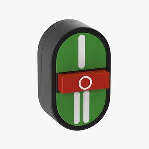 button 01 11 3D model