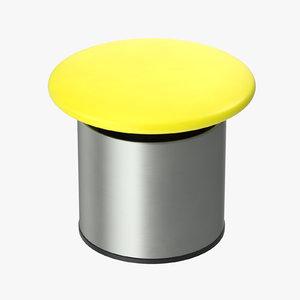 button 01 13 yellow 3D