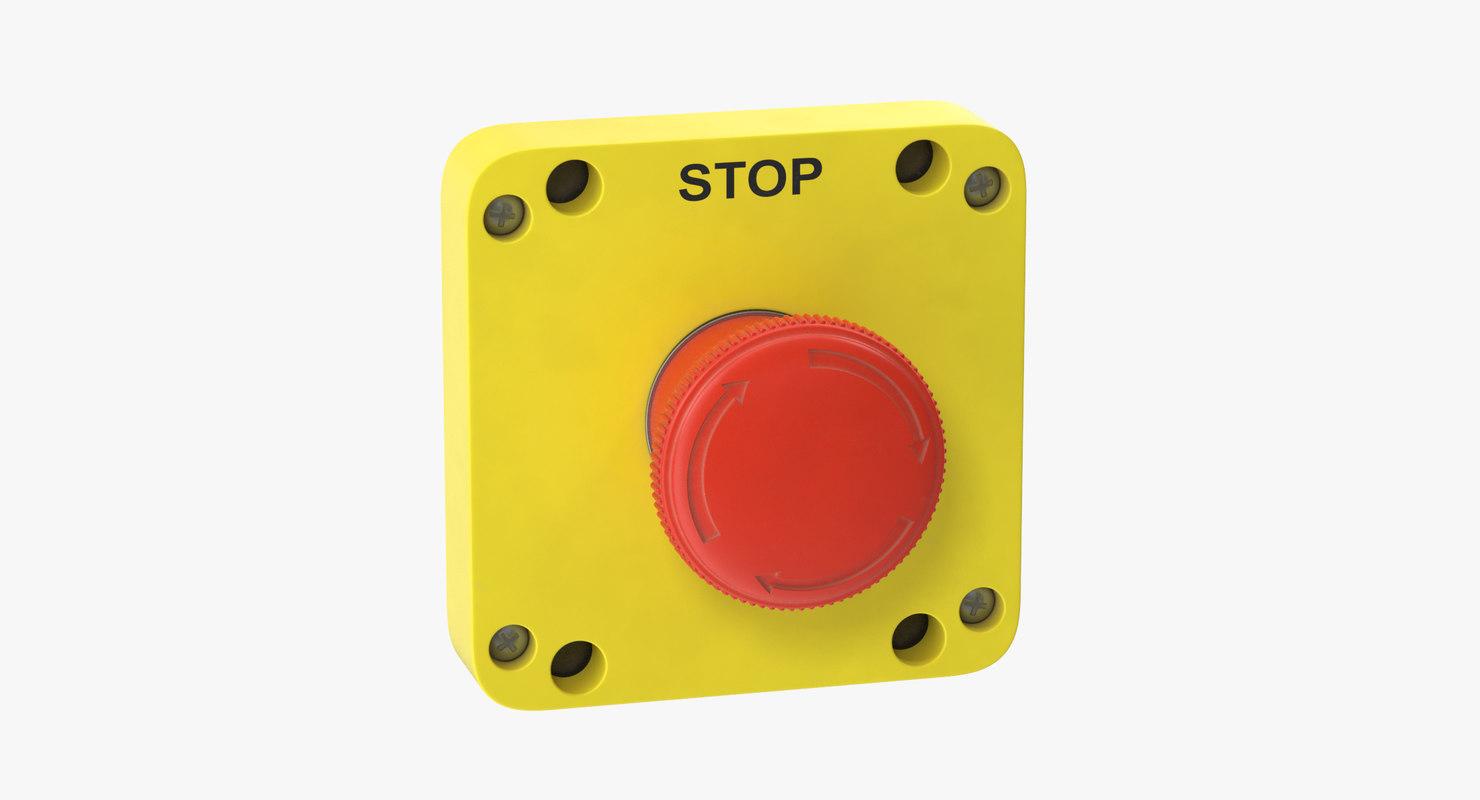 button 01 14 3D model