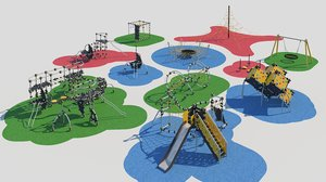modern children playground 3D model