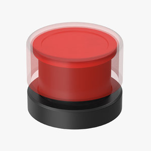 3D button 01 16 red