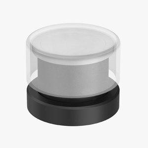 button 01 16 white 3D model