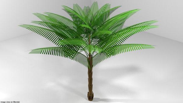 date palm tree 3D model