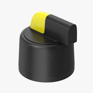 3D model button 01 20