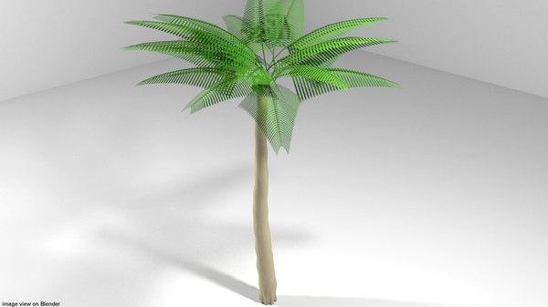 3D coconut palm tree model