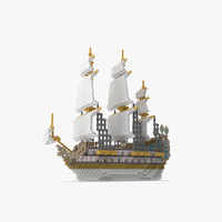 3D lego ship model