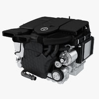 3D mercedes diesel engine om654 model