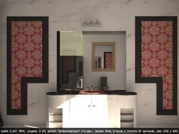 lavish bathroom classic 3D