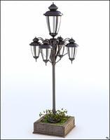 3D model retro lamp