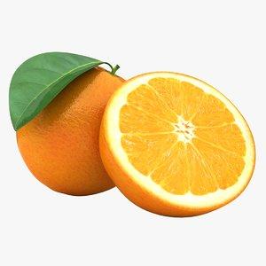 3D realistic orange 3